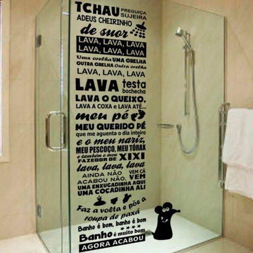 Tudo sobre 'Adesivo para Box de Banheiro Ratinho do Castelo Rá-tim-bum'