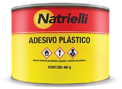 Adesivo Plástico Natrielli 400g Cinza