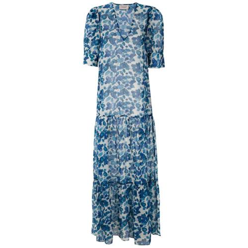 Adriana Degreas Vestido Longo Estampado - Azul