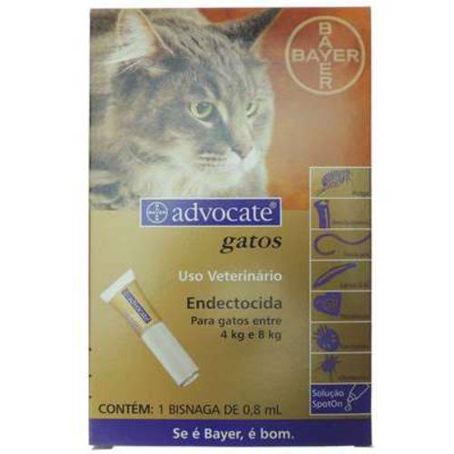 Tudo sobre 'Advocate Gatos (0,8ML) 4 a 8KG'