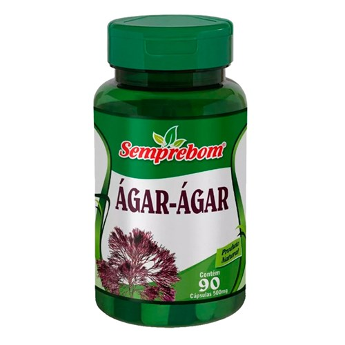 Ágar-Ágar - Semprebom - 90 Cápsulas de 500 Mg.
