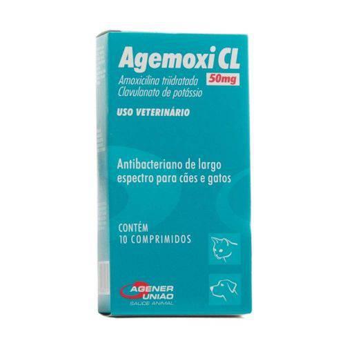 Agemox Cl 50 Mg com 10 Comprimidos