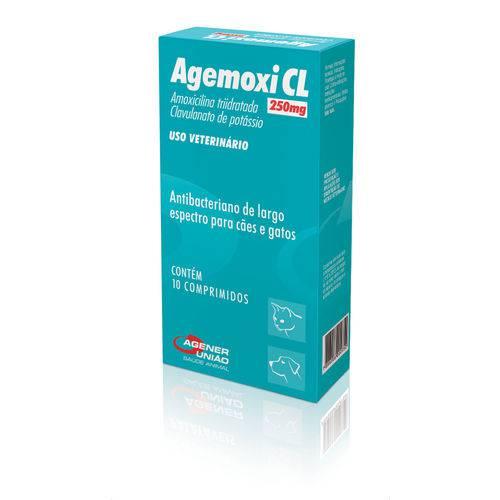 Agemoxi Cl 250 Mg Antibiótico Agener 10 Comprimidos