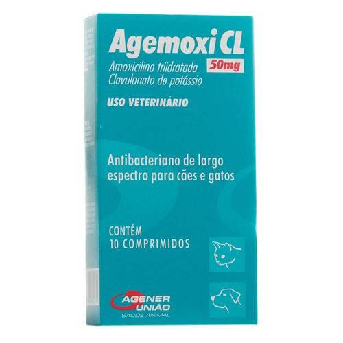Agemoxi Cl 50 Mg Antibiótico Agener 10 Comprimidos