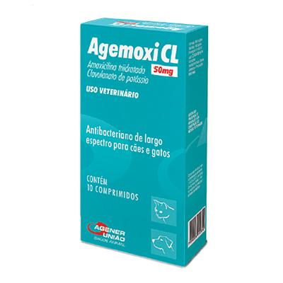 Agemoxi Cl 50mg - 10 Comprimidos - Agener Uniao