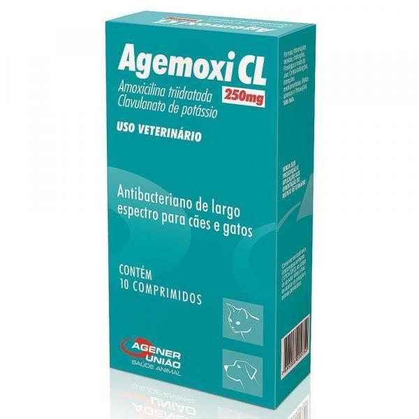 Agemoxi Cl 250mg - 10 Comprimidos - Agener Uniao