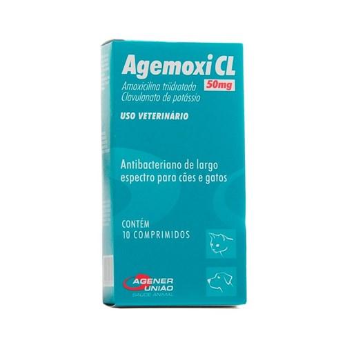 Agemoxi CL 50mg 10 Comprimidos - Agener União