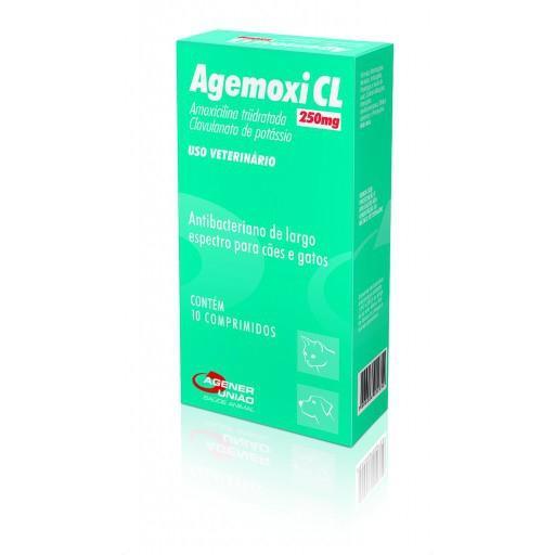 Agemoxi CL 250mg - 10 Comprimidos - Agener União