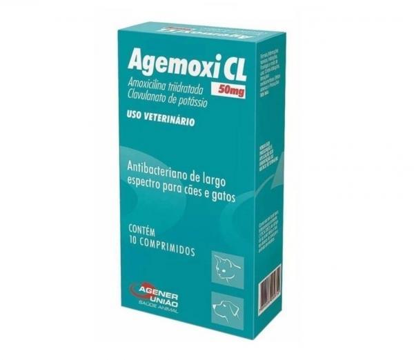Agemoxi CL 50mg - 10 Comprimidos - Antibiótico - Agener União