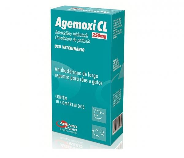 Agemoxi Cl 250mg - 10 Comprimidos - Antibióticos - Agener União