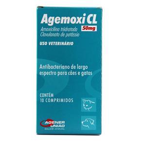 Agemoxi CL 50mg Antibiótico 10 Comprimidos - Agener União