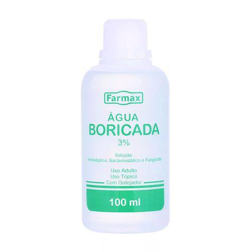 Tudo sobre 'Água Boricada 3% 100ml - Farmax'
