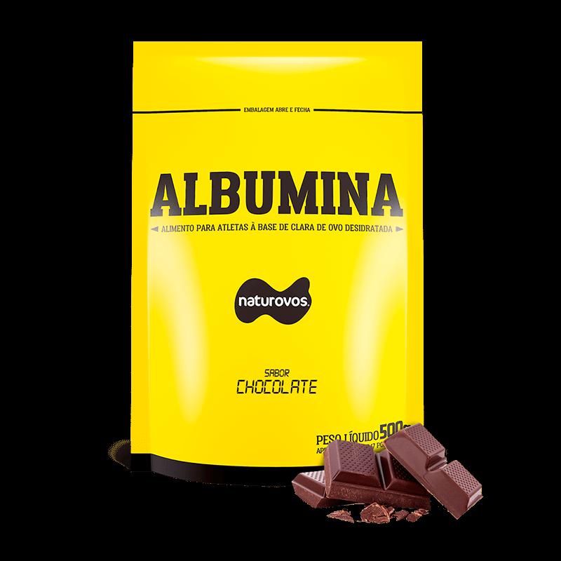 Tudo sobre 'Albumina Chocolate (500g) Naturovos'