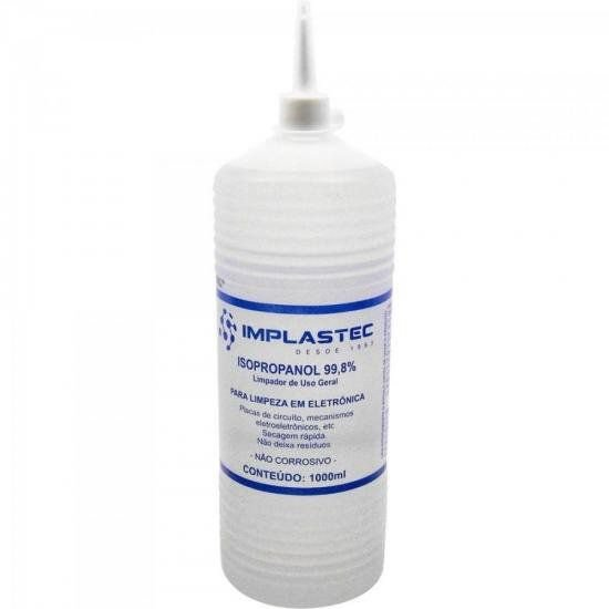 Alcool Isopropilico 1000ML Isopropanol Transparente Implastec
