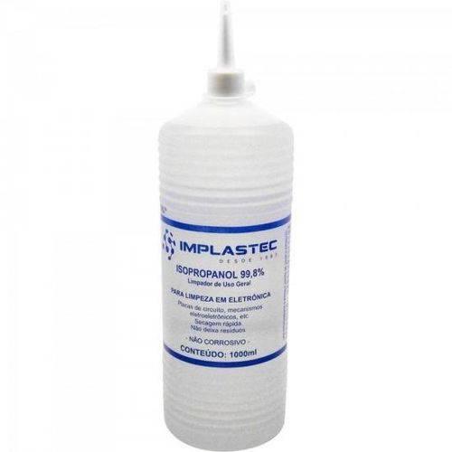 Álcool Isopropilíco 1000ml Isopropanol Transparente Implastec