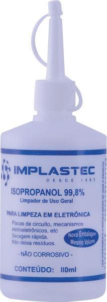 Álcool Isopropílico 110ML Bico Aplicador Implastec
