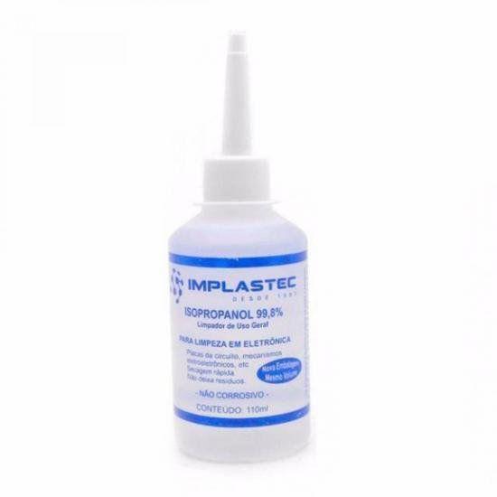 Alcool Isopropilico 110ML Isopropanol Transparente Implastec