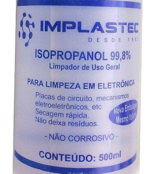 Alcool Isopropilico 500ml - 97 - Implastec