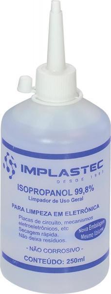 Álcool Isopropílico 250ML Bico Aplicador Implastec