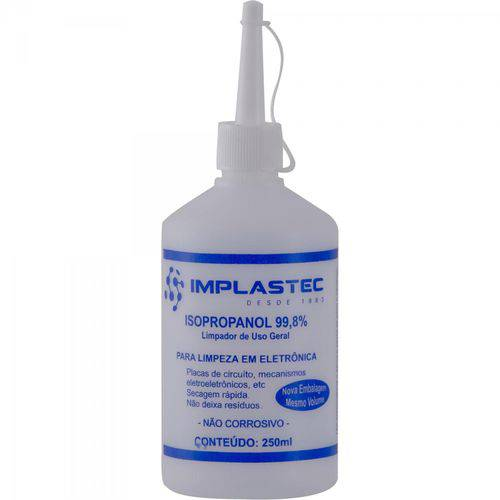Álcool Isopropílico 250ml Isopropanol Implastec