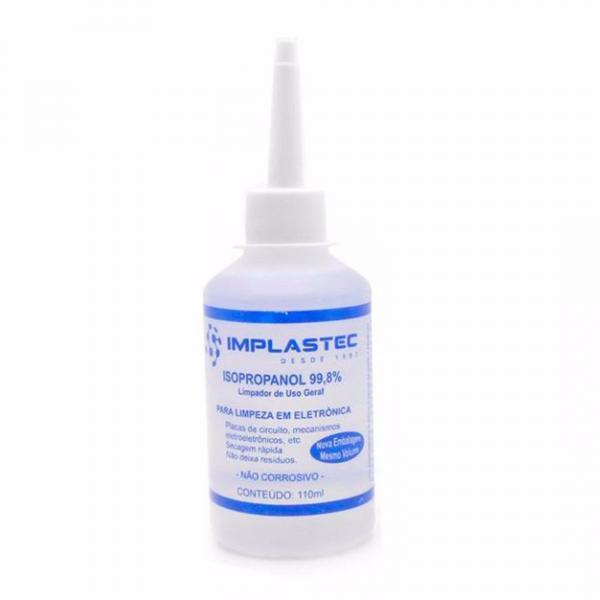 Álcool Isopropílico Isopropanol 110ml IMPLASTEC
