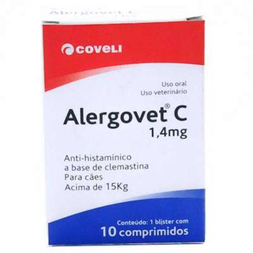 Tudo sobre 'Alergovet C 1.4MG -10/Comprimidos'