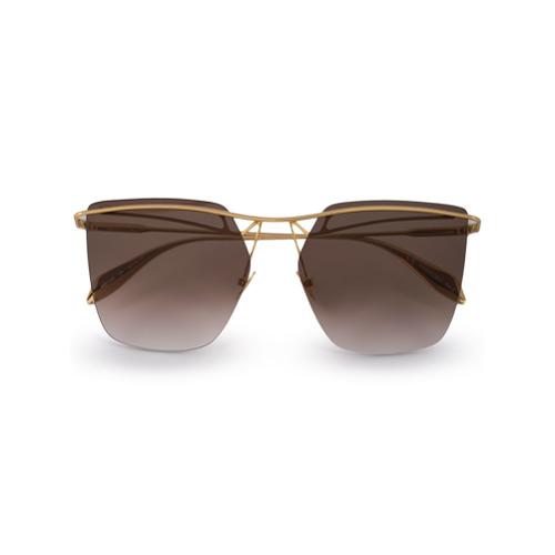 Alexander McQueen Eyewear Óculos de Sol Oversized - Marrom