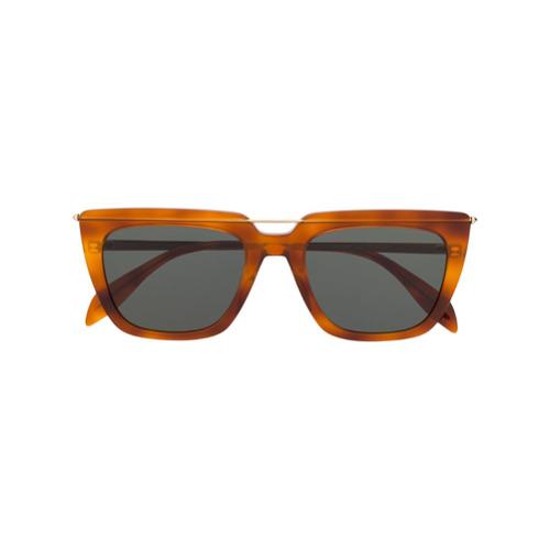 Alexander McQueen Eyewear Óculos de Sol Quadrado - Marrom