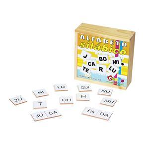 Alfabeto Silabico 150 Peças Colorido Carlu Brinquedos - Colorido