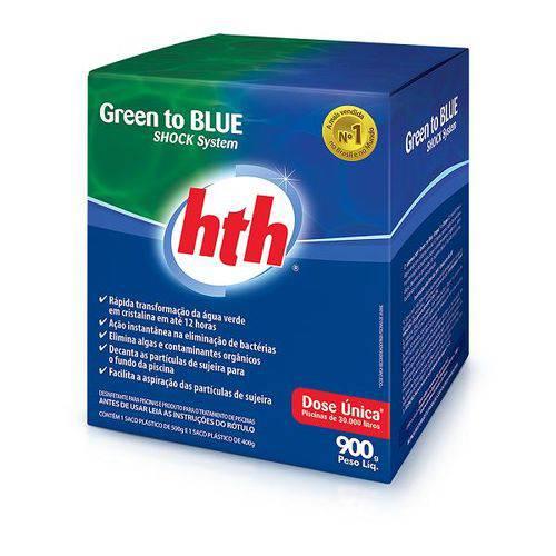 Algicida de Choque Green To Blue 900gr Hth para Piscinas