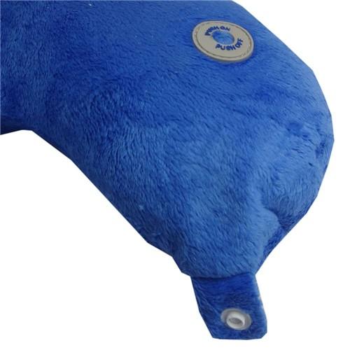 Almofada Massageador de Pescoço Travesseiro Encosto Viagem - Travel Massager Azul Rlx8 Rm-Mp2805 B