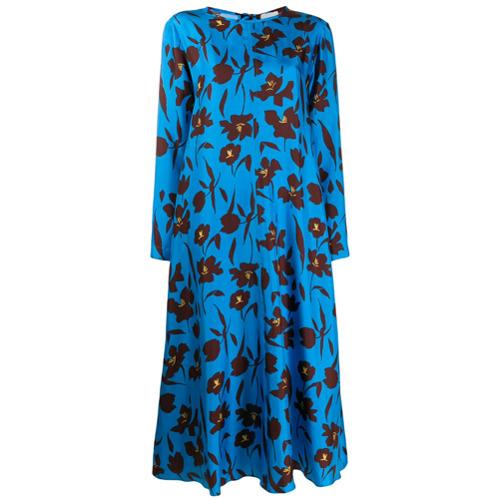 Alysi Vestido com Estampa Floral - Azul