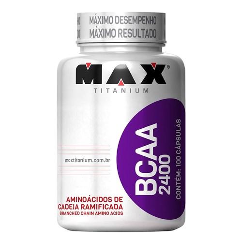 Aminoácido Bcaa 2400 - Max Titanium - 100 Caps
