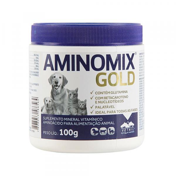 Aminomix Gold 100g Suplemento Vitamínico - Vetnil -