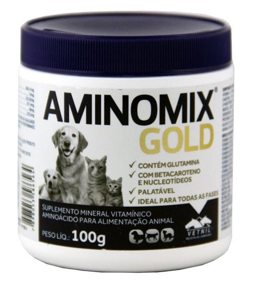 Aminomix Gold 100g Vetnil Suplemento Vitamínico