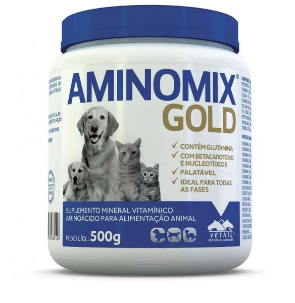 Aminomix Gold 500g Suplemento Vitamínico - Vetnil -