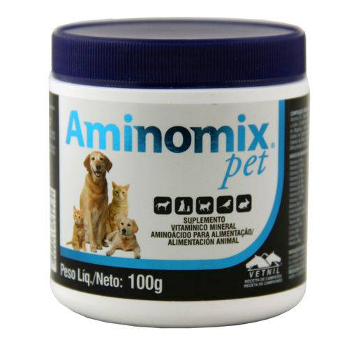 Aminomix Pet 100g Suplemento Vitamínico - Vetnil