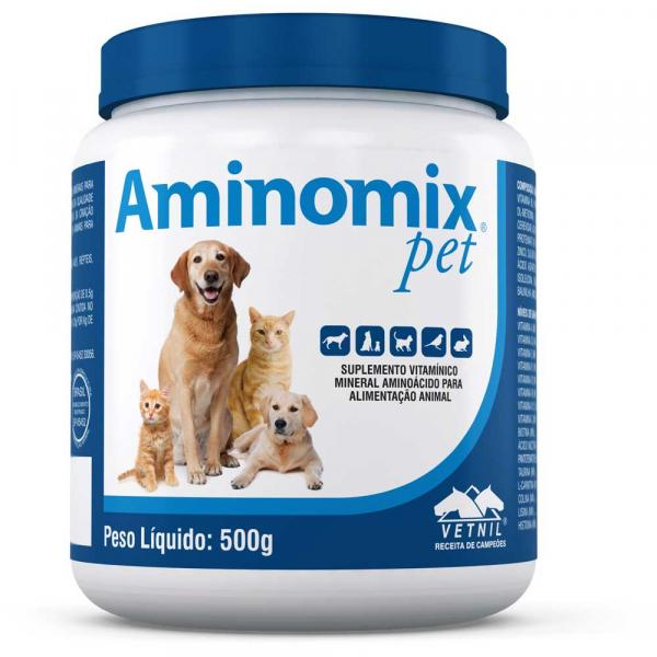 Aminomix Pet 500g Suplemento Vitamínico - Vetnil -