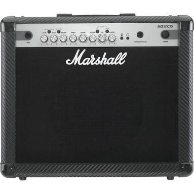 """Amplificador Marshall MG30CFX Carbon Fibre - Combo para Guitarra 30w 1x10"""" com Efeitos"""