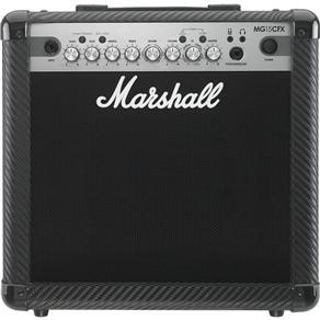 """Amplificador Marshall MG15CFX Carbon Fibre - Combo para Guitarra 15w 1x8"""" com Efeitos"""
