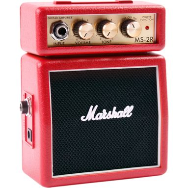 Amplificador Marshall MS-2R Micro Stack Red - Combo Portátil para Guitarra