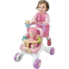 Andador Meu Primeiro Carrinho de Bebê - Fisher Price