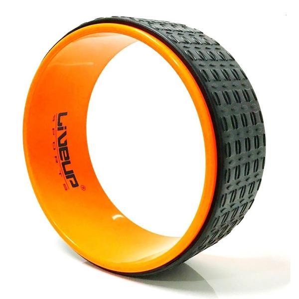 Anel de Yoga e Pilates Fitness Circle Laranja - Liveup