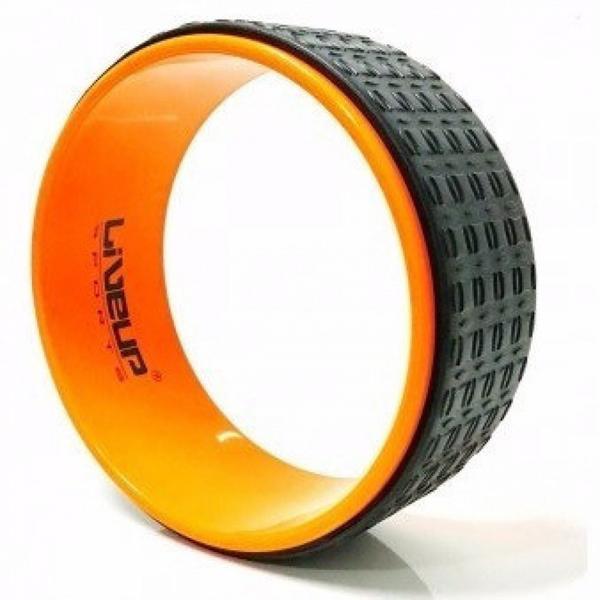 Anel de Yoga e Pilates Fitness Circle Laranja Liveup