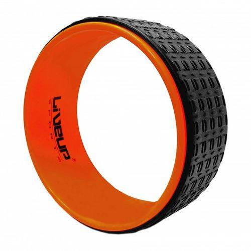 Anel de Yoga Liveup Sports Ls3750 33Cm Preto e Laranja