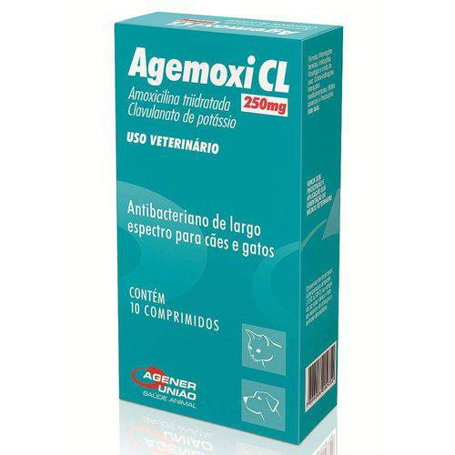 Antibiótico 10 Comp. Agener União Agemoxi 250mg