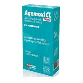 Antibiótico Agemoxi Cl 250 Mg 10 Comprimidos