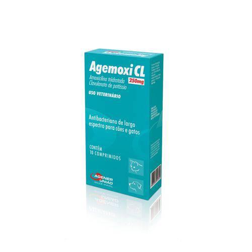 Antibiótico Agemoxil Cl Agener Pet 10 Comprimidos
