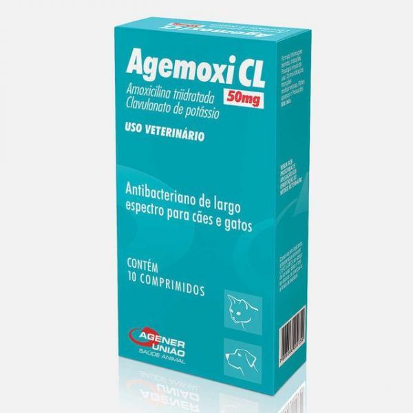 Antibiótico Agener União Agemoxi 50mg 10 Comprimidos