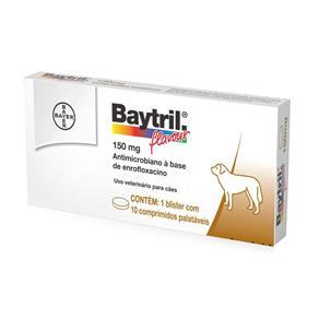 Antibiótico Bayer Baytril Flavour 150 Mg - 10 Comprimidos
